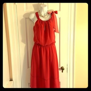 WHBM Lovely Coral Dress  4